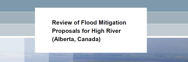 Cover of the Deltares report on High River studies 2015