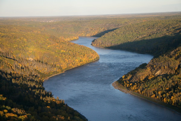 Athabasca River - South of Fort McMurray Alberta