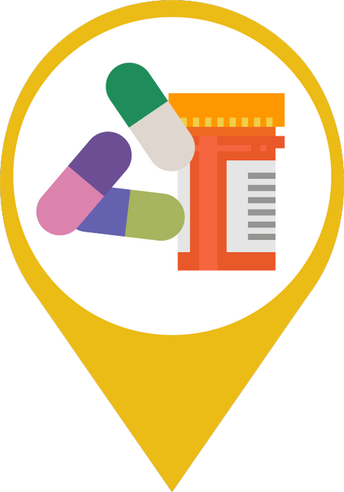 Icon showing medications representing pharmaceuticals and emerging contaminants