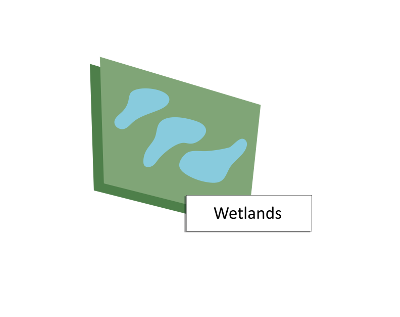 Image depicting ponds and wetlands.